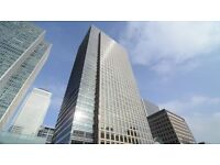 Flexible 2 / 3 person office Space for Rent in London Canary Wharf £1350 p/m