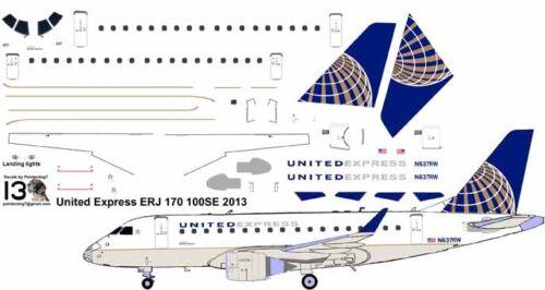 United Express Embraer ERJ 170 airliner Pointerdog7 decals for Hasegawa kit