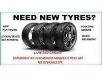 Part worn tyres supplied and fitted at discounted prices