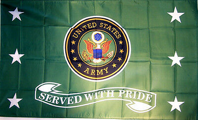 SERVED WITH PRIDE ARMY FLAG FL360 armed forces banner military 3 x  5 large 3x5