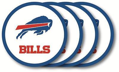 Buffalo Bills Coaster - Buffalo Bills Coasters Set of 4 Beverage Coasters
