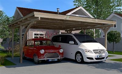 Weka Carport Doppelcarport 616 mit Rundbogen kdi 500x500cm