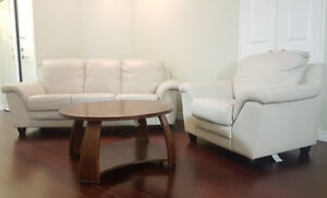 Sofa set with coffee table $450