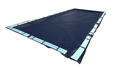 Swimline 25 x 45 Foot Dark Blue Winter Rectangular In Ground Swimming Pool Cover