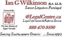 PARALEGAL LITIGATION SERVICES - ALL SOUTH WESTERN ONTARIO