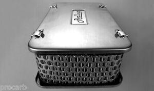 WEBER 45mm DCOE CARBY CHROME RECTANGULAR SPORTS CARBURETTOR AIR FILTER CARB
