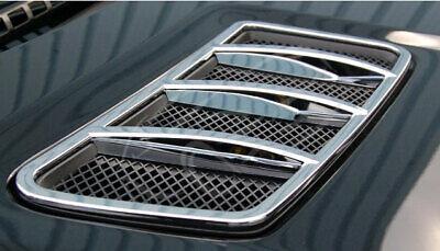 Chrom Lüfteinlass Finnen Motorhaube Mercedes für Mercedes W166 M ML GL GLS