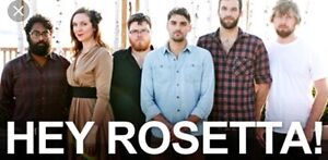 2 tickets to sold out Friday night hey Rosetta show