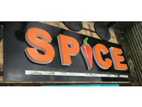 VERY LARGE SPICE SIGN indian curry pepper shop