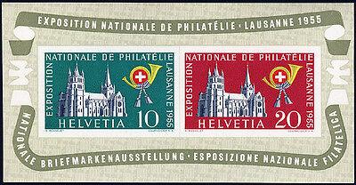 SCHWEIZ 1955, Block 15, tadellos postfrisch, Mi. 100,-