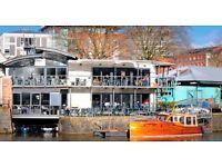 Bar manager - busy independent Bristol harbourside restaurant