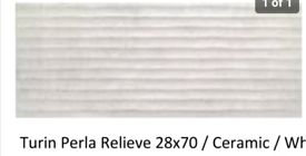 28x70cm Turin Perla ceramic wall tile 16m2 job lot £70