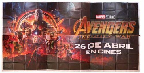 Original huge AVENGERS INFINITY WAR billboard movie poster - Marvel MCU Rare