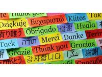 Brazilian Portuguese, Italian and English as a Foreign language