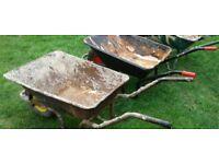 2 wheel barrows for sale.