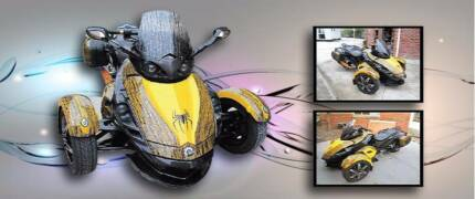 CAN AM SPYDER TRYBIKE SPECIAL EDITION SHOW BIKE