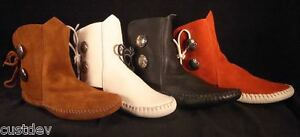 NEW-TAOS-INDIAN-MAID-WOMENS-MOCCASINS-LEATHER-3000W
