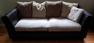 Two-tone contemporary Sofa & Loveseat design from Ashley