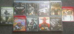 9 Ps3 games 1 Xbox 360 game