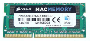 Apple Mac Memory 8GB RAM DDR3 SODIMM 2x4GB 1333MHz