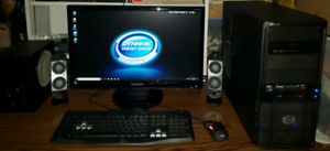 """Complete AMD Gaming Desktop Computer & 24"""" LCD Monitor"""