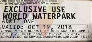 Water Park Tickets at WEM