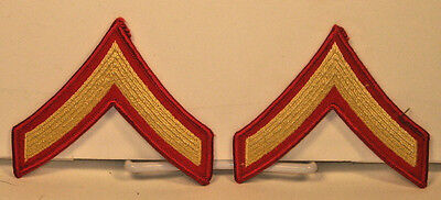 USMC US Marine Corps Male Private First Class Dress Blues Strips Chevrons