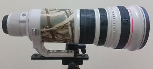 Canon 500mm F4 IS USM Mk 1 used telephoto lens, Gitzo tripod