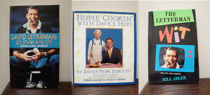 David Letterman books (biographies & Dave's Mom's cookbook)