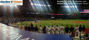 ****FIRST row above dugout seats Toronto Blue Jays Tickets****