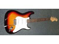 Fender stratocaster vintage sunburst electric guitar + extras