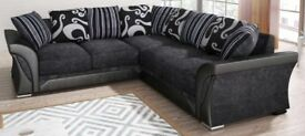 BLACK/GREY & BROWN/BEIGE- BRAND NEW SHANNON CORNER SOFA OR 3+2 SOFA / GET YOUR ORDER NOW --WOW OFFER
