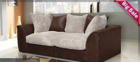 EXPRESS DROP AMAZING OFFER BRAND NEW BYRON JUMBO CORD SOFA AVAILABLE IN CORNER OR 3+2-PAY ON ARRIVAL