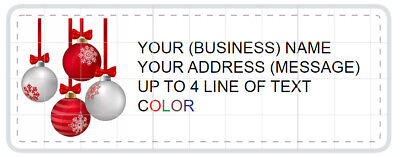 Happy Holiday 150 Personalized Returnmailing Address Labels Christmas