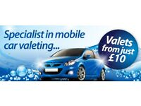 Mobile Valeting Service IN & OUT VALET £10 !!!!!!