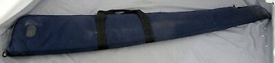 "Bob Allen Soft Rifle Padded Carrying Case Blue Cloth 52.5"" L x 8.5"" W (3.5"")"