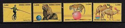 Sierra Leone  #2363-66  (2000 Circus set) VFMNH CV $5.75