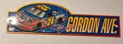 "Jeff Gordon #24 ""Gordon Ave"" DuPont Racing Nascar Street Sign-67147921"