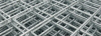 2 xGalvanised Welded Wire Mesh Panel 2400(8') x 1220(4' ) x 50mm x 50mm x 4.0mm