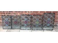 *** Antique Leaded Stained Glass Windows ***