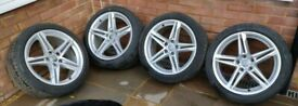 """4 x 18"""" Audi A4 Allows with Pirelli Tyres FREE DELIVERY 6085"""