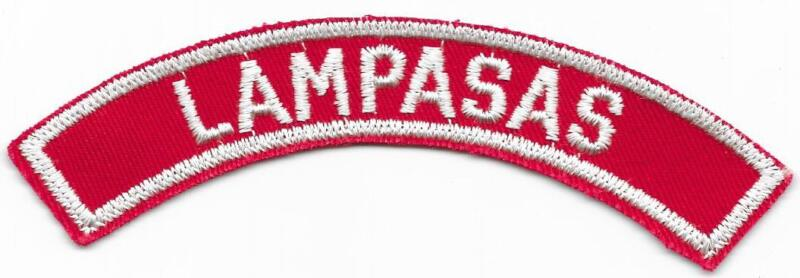 Lampasas Red and White RWS Community Strip Vintage Boy Scouts BSA