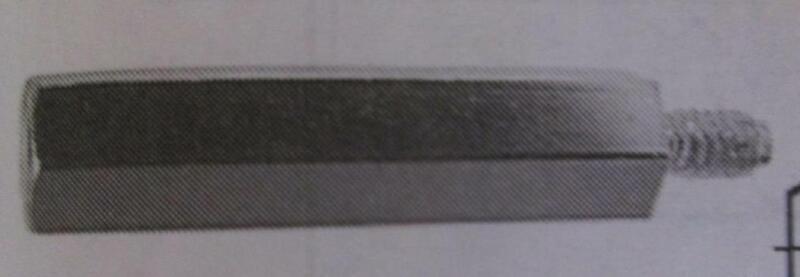 "Lot 1-1/8"" L x 8-32 Threaded 1/4"" OD Brass Hex STANDOFFS Spacer Male/Female"