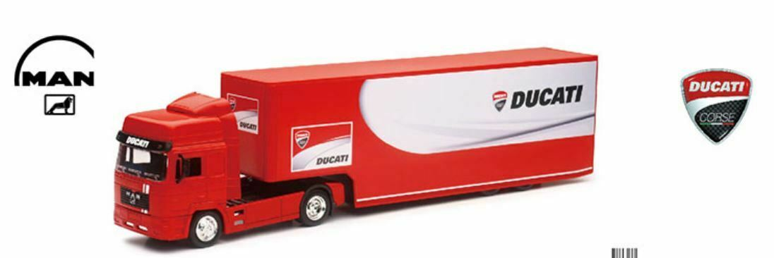 Team Ray Trucks >> Details About Ducati Team Truck Moto Gp Team 1 43 Scale Die Cast New Ray