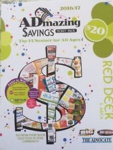 ADmazing Coupon booklets for Red Deer