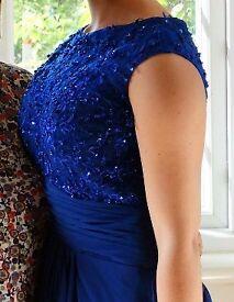 Stunning royal blue prone dress