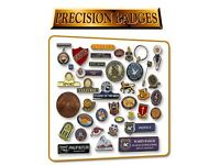 PRECISION BADGES MANUFACTURER OF ENAMEL LAPEL/PIN BADGES FOR SCHOOLS CHARITIES COUNCILS NHS HOTELS.