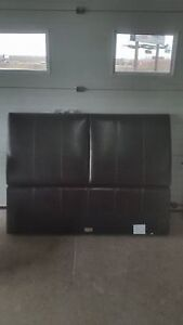 leather style double headboard - delivery available