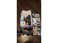 XBOX 360 4GB with KINECT, and games