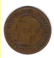 Coin 1859 Canada 1 Cent Penny